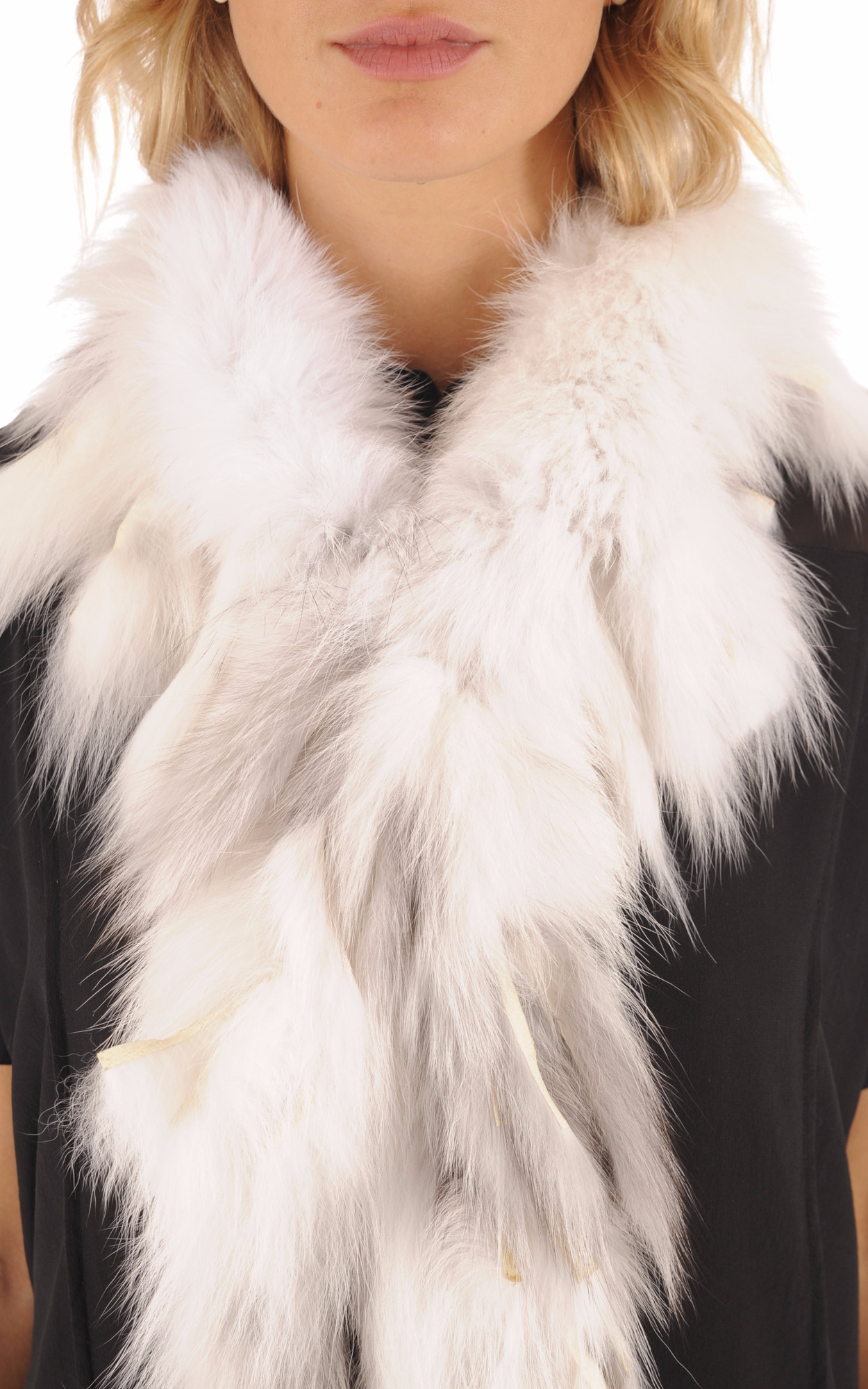Boa Blanc Fourrure Renard