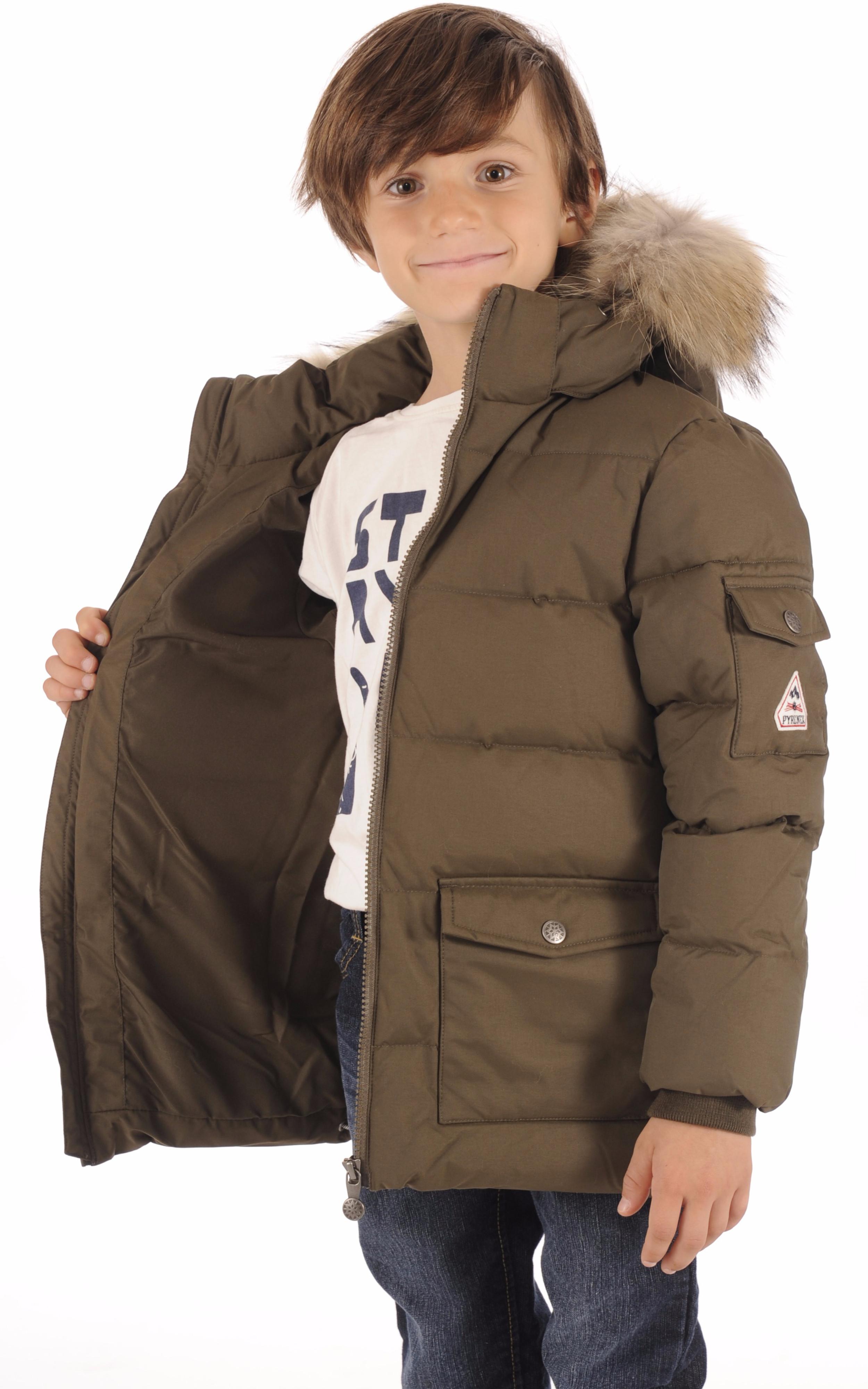 Doudoune Authentic Jacket Boy Kaki Pyrenex