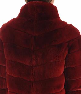 Veste fourrure rex rouge Suprema