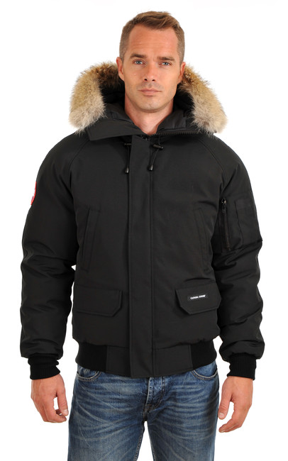 blouson chilliwack noire homme canada goose la canadienne doudoune parka textile noir. Black Bedroom Furniture Sets. Home Design Ideas
