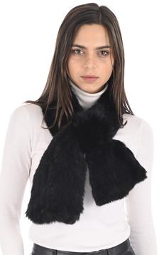 Echarpe lapin noir