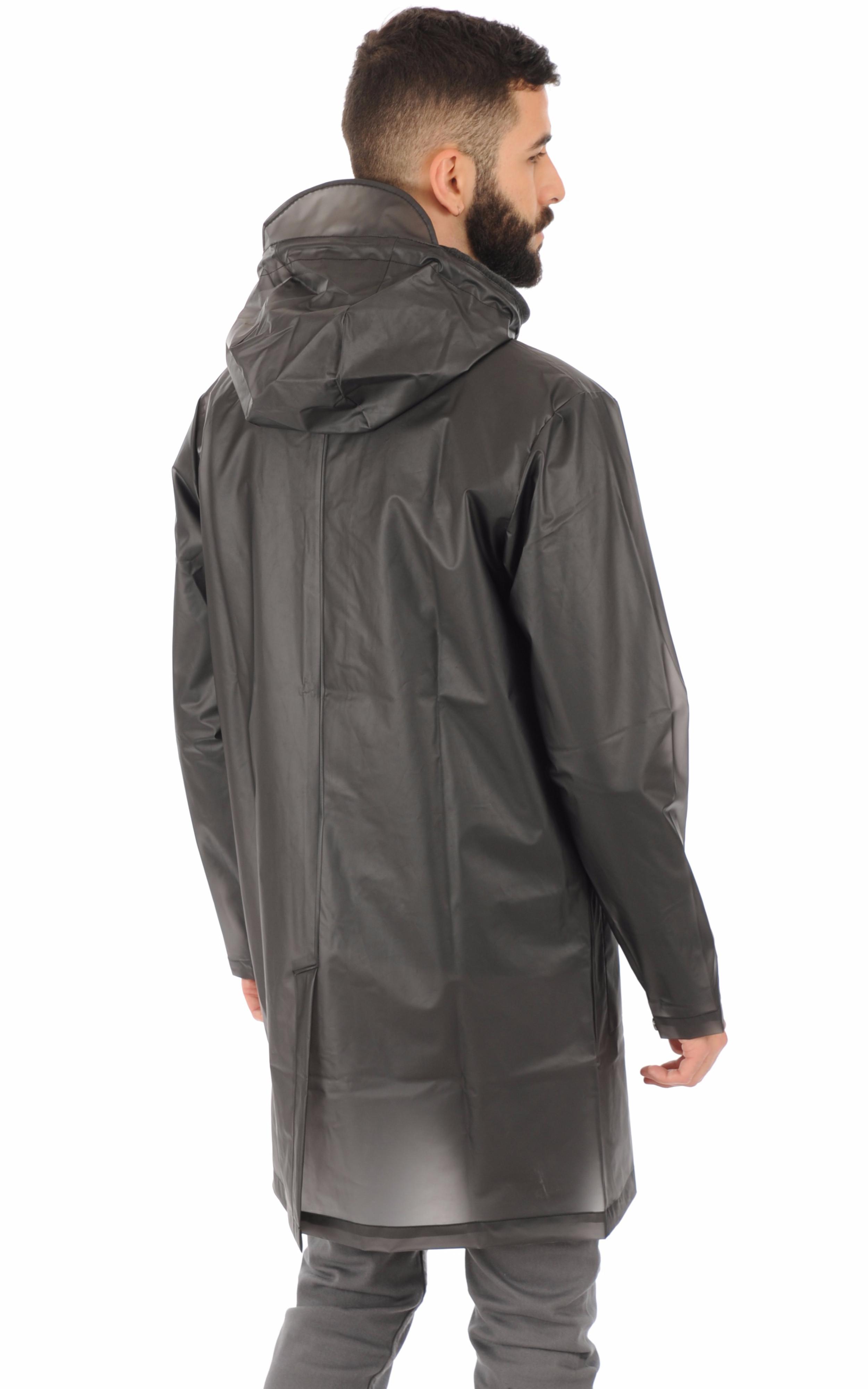 Rains - Imperméable transparent noir Rains