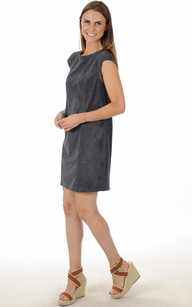 Robe Cuirs Velours Micro Perforé Bleue