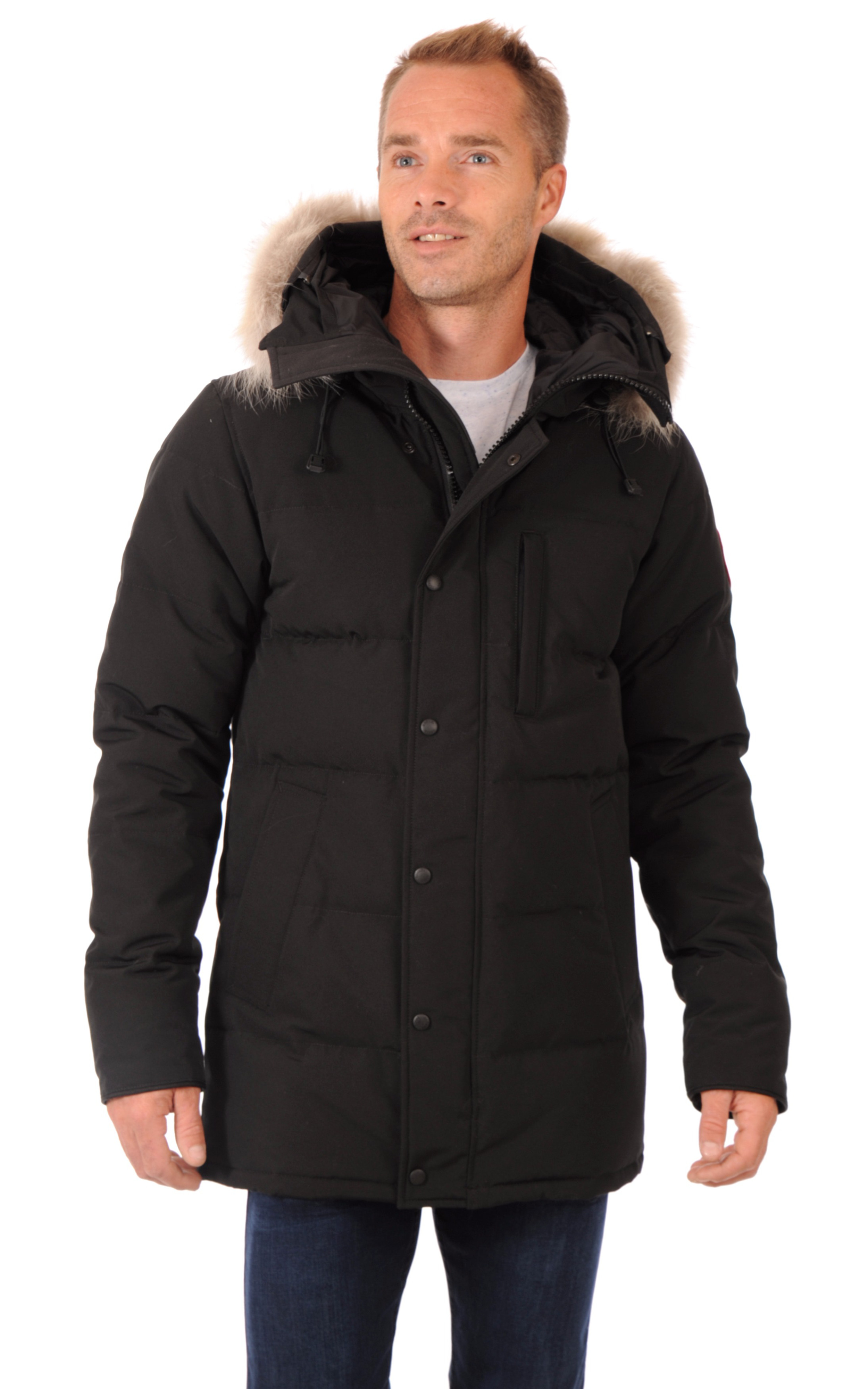 parka carson black homme canada goose la canadienne. Black Bedroom Furniture Sets. Home Design Ideas