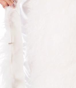 Gilet Agneau du Tibet Blanc Femme La Canadienne