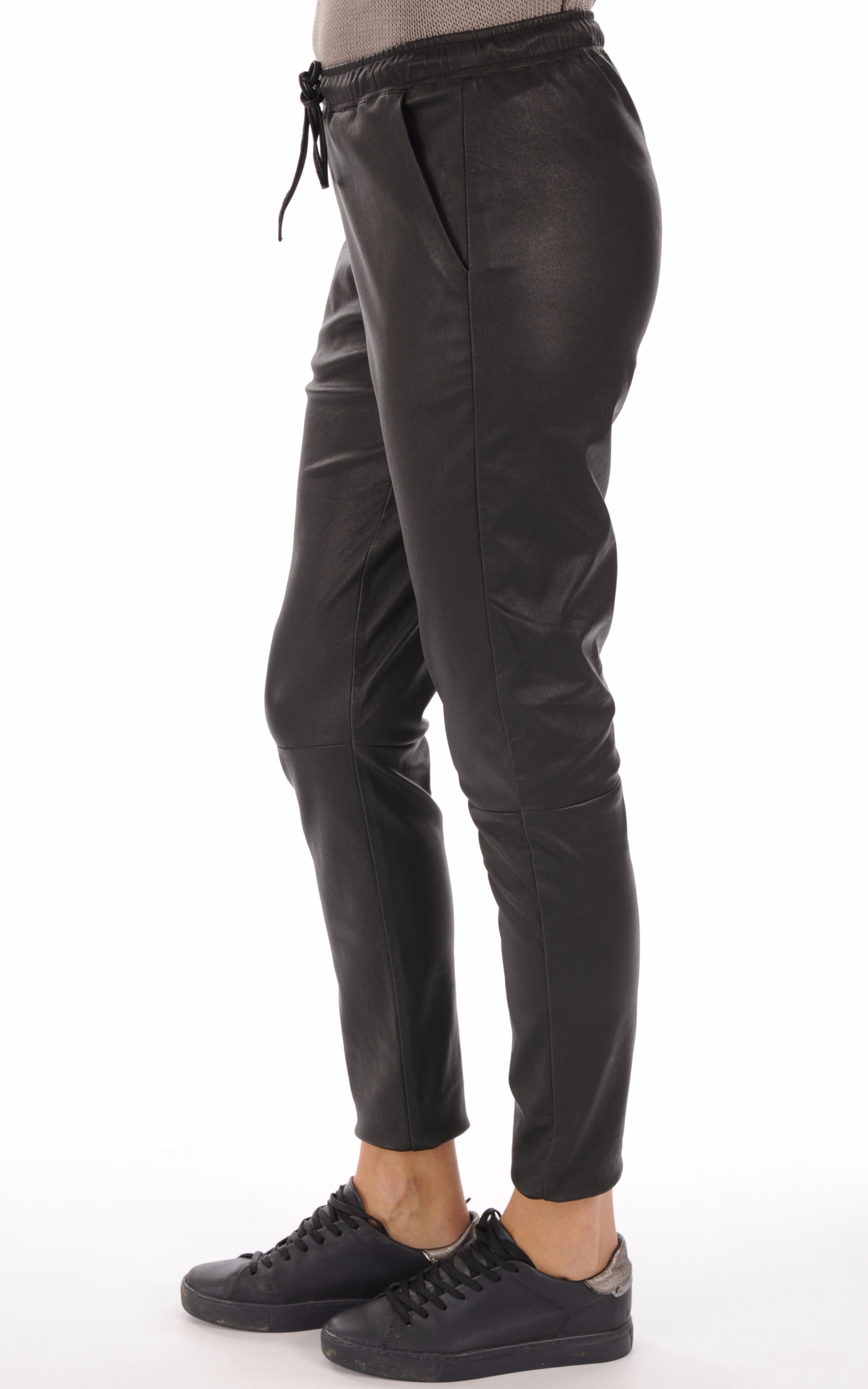 Pantalon en cuir stretch noir Goosecraft