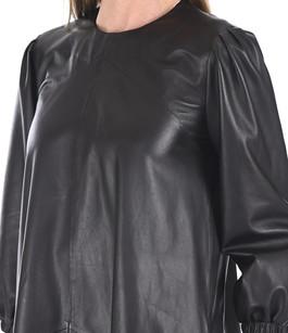 Robe trapèze agneau noire Closed