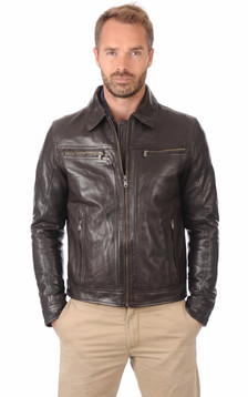 Blouson Washington Marron