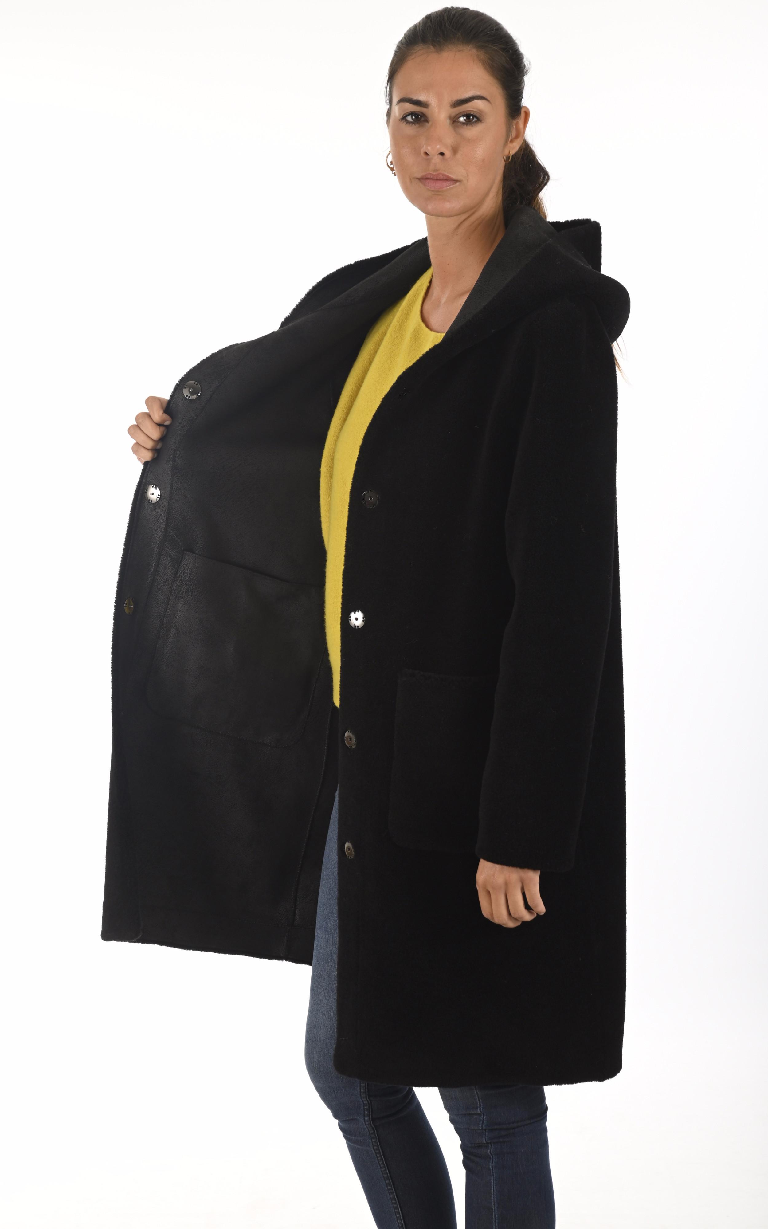 Manteau Angelique réversible noir Oakwood
