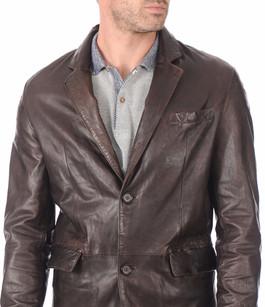 Blazer cuir marron homme daytona la canadienne veste 3 4 cuir marron - Blazer homme marron ...