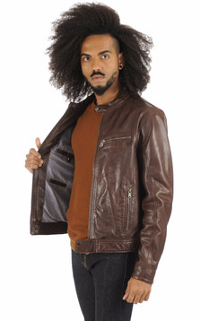 Blouson Dustin wine brown