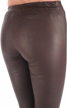 Legging Cuir Stretch Bordeaux