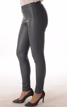 Legging en Cuir Stretch Bleu