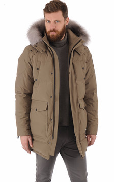 Doudoune taupe homme