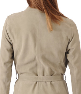 Veste Cuir Velours Bronze La Canadienne