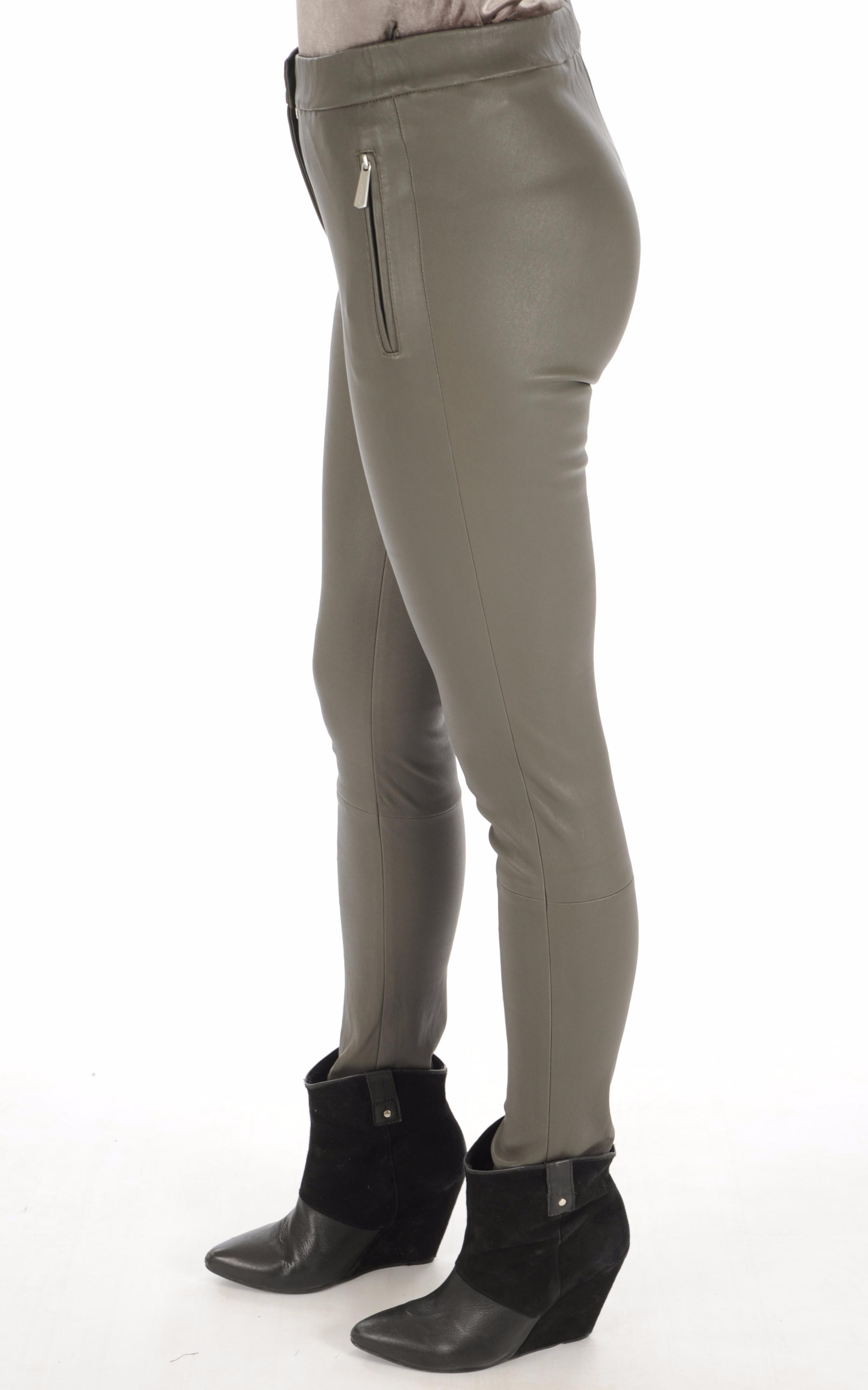 Pantalon Céleste agneau stretch kaki Oakwood