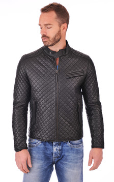 Blouson Top Man Quilted Noir1