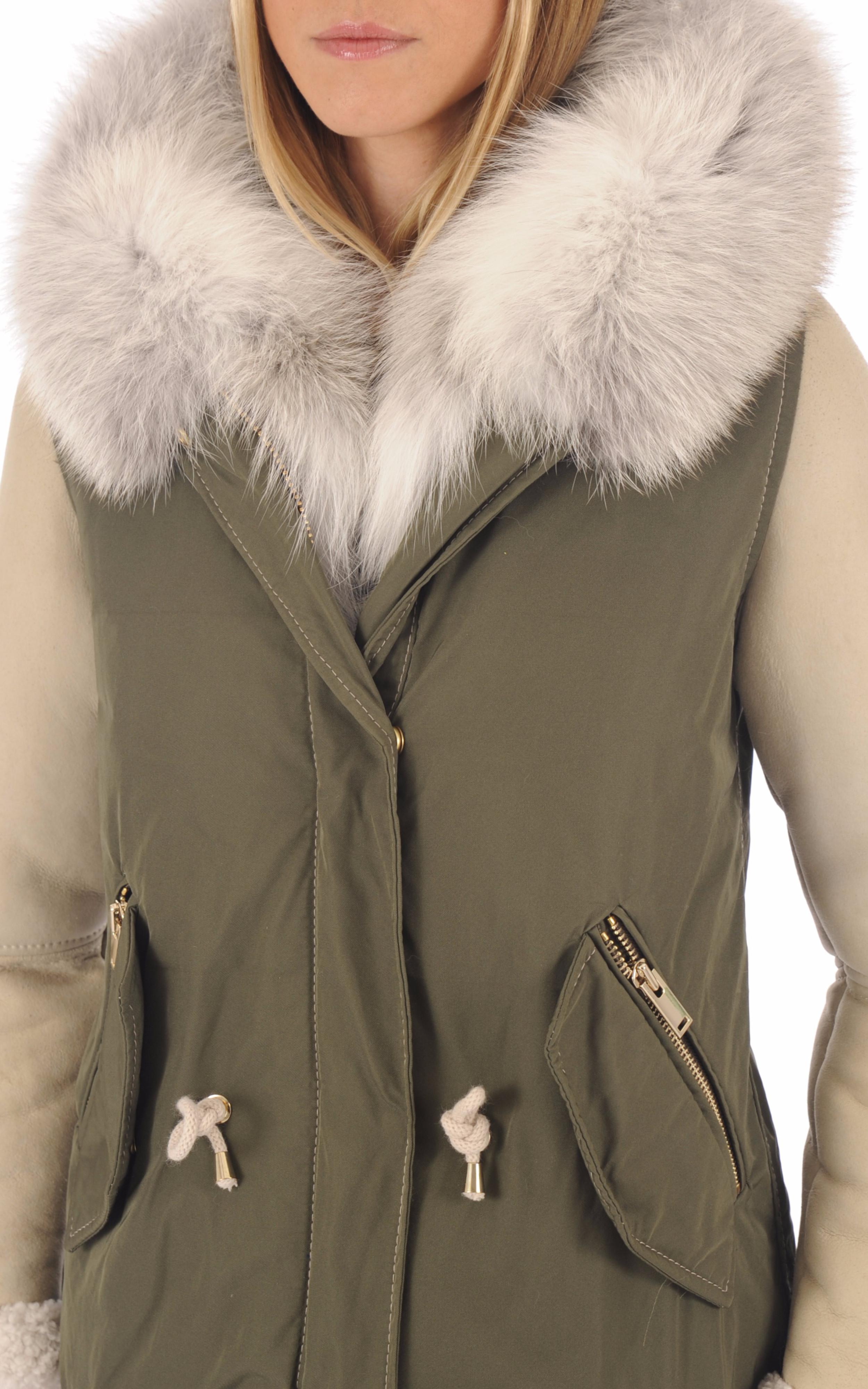 Manteau à capuche en fourrure Flo&Clo