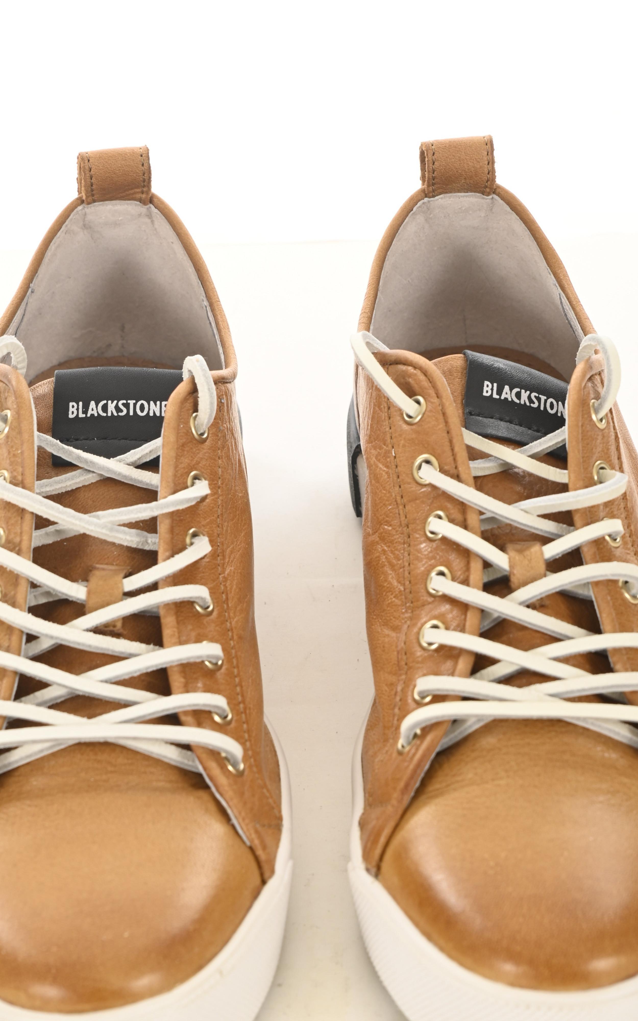 Baskets en cuir camel Blackstone