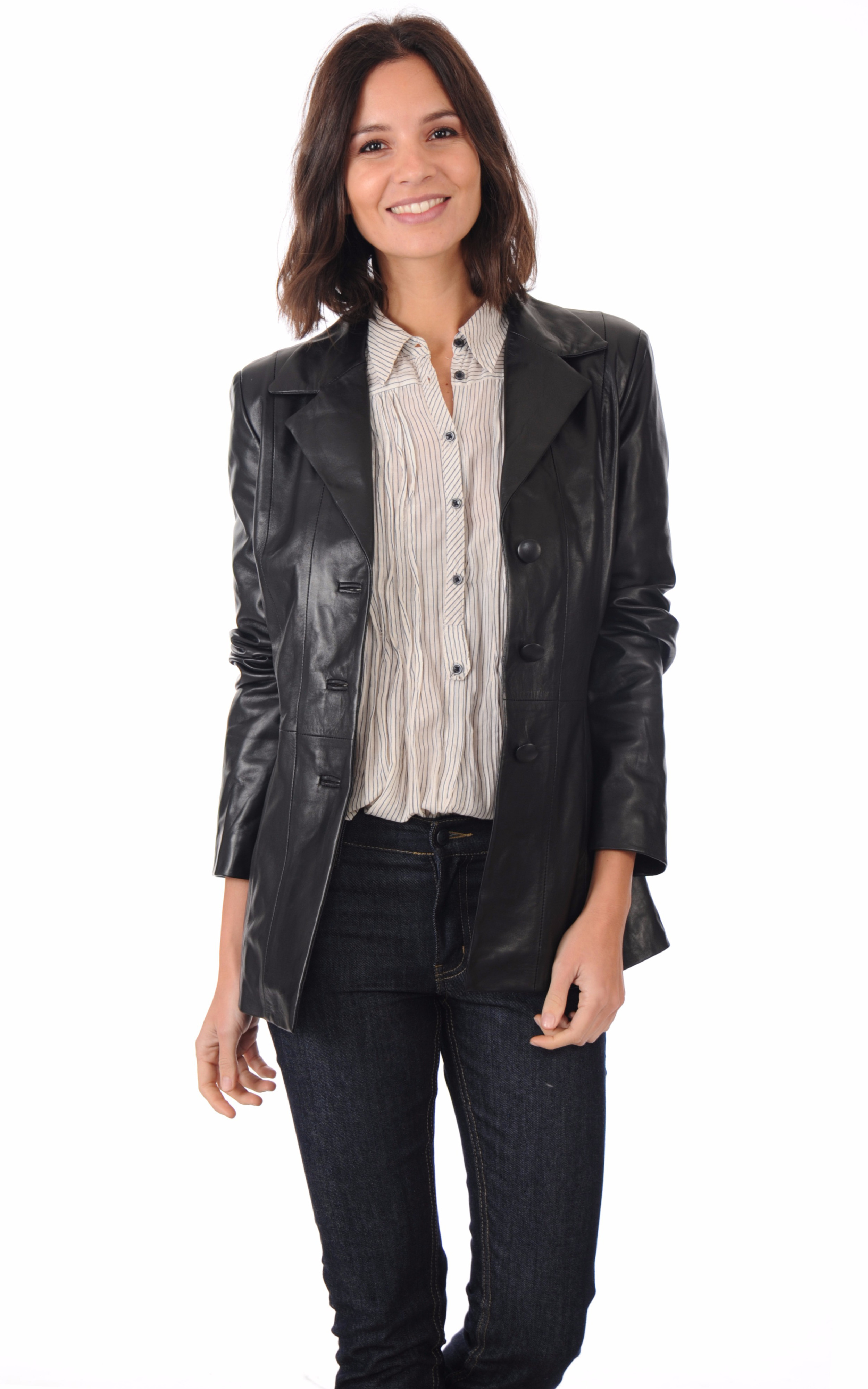 blazer long femme la canadienne la canadienne veste 3. Black Bedroom Furniture Sets. Home Design Ideas