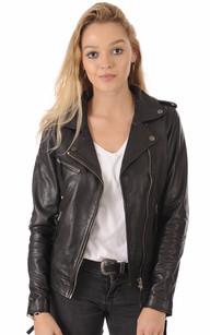 Classique Brando Femme Style Cuir Véritable Blouson Perfecto Biker 6TaWvvn