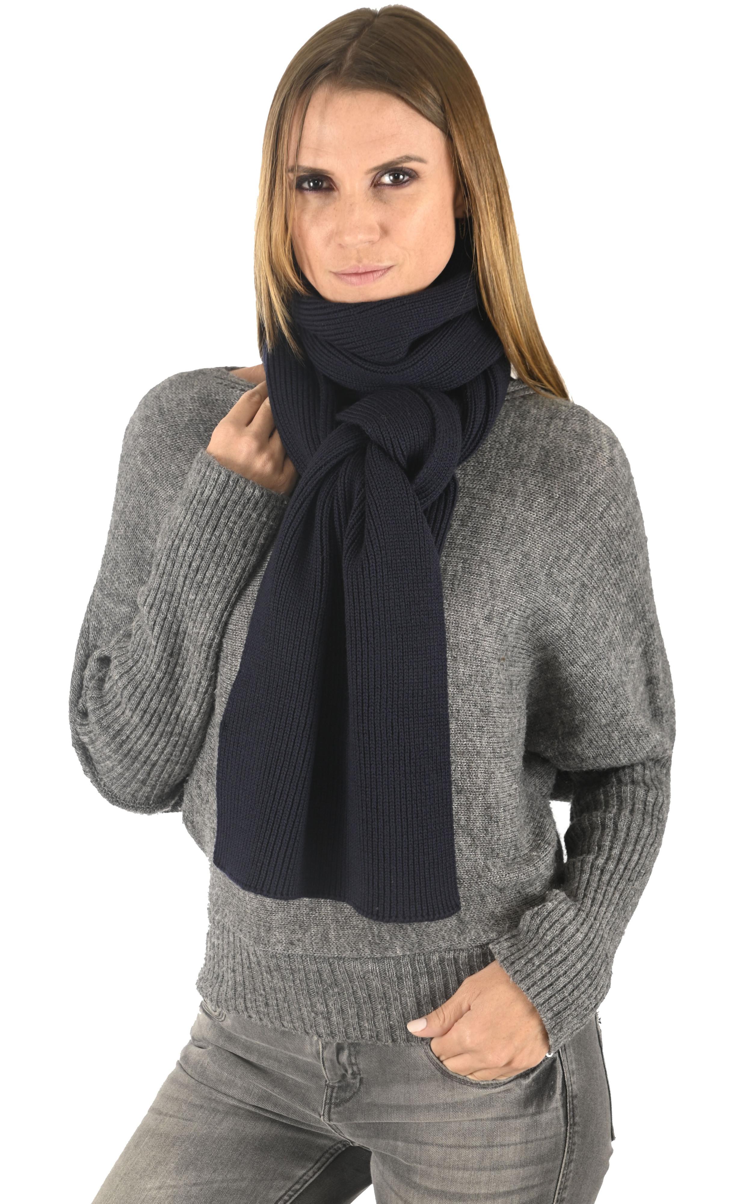 Echarpe en laine bleu marine Woolrich