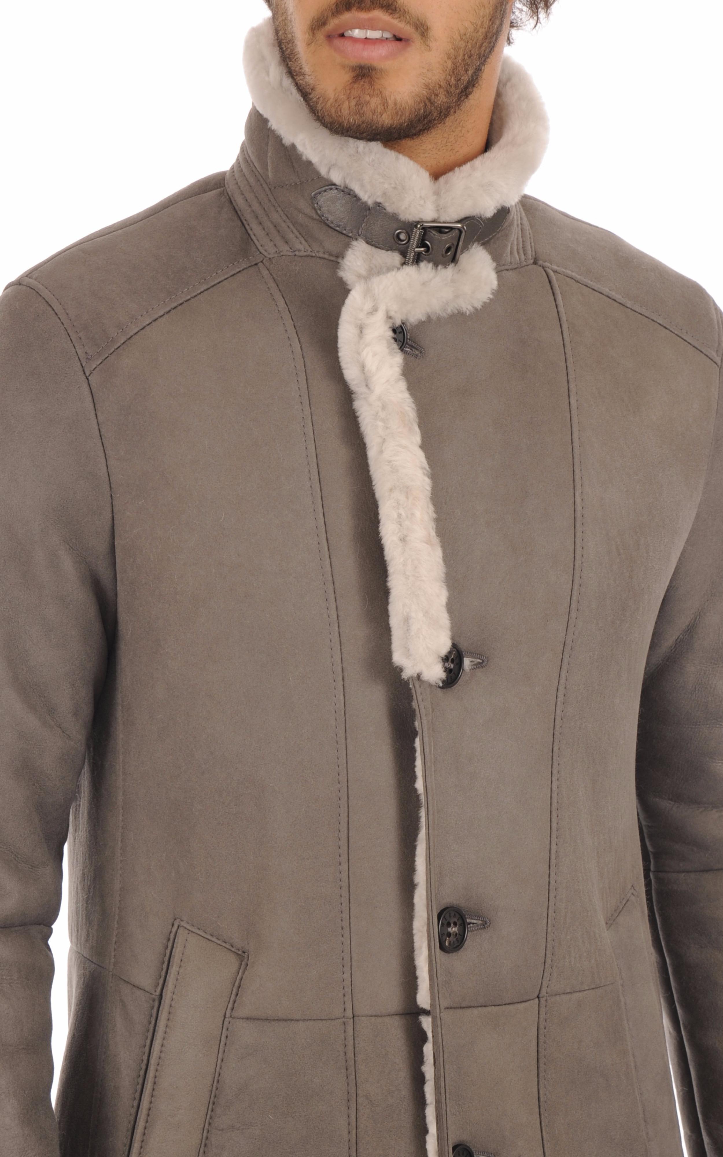 Manteau Confortable Entrefino Gris Christ