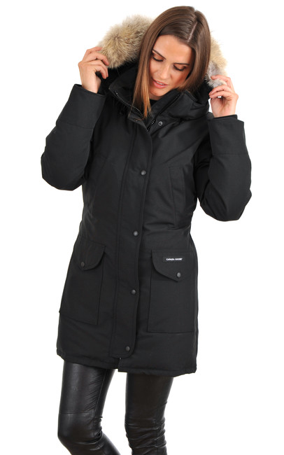 parka trillium noire canada goose la canadienne doudoune parka textile noir. Black Bedroom Furniture Sets. Home Design Ideas