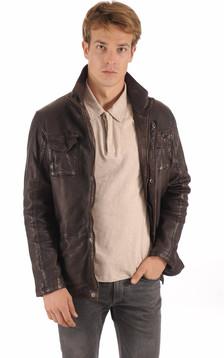 Veste confortable Cuir Homme