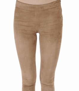 Legging Cuir Velours Stretch Beige Mackage