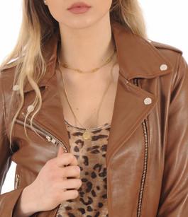 Blouson Rock Girl cognac Serge Pariente