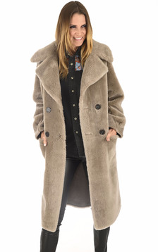 Manteau long Imperatrice taupe