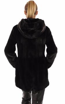 Veste en vison noire