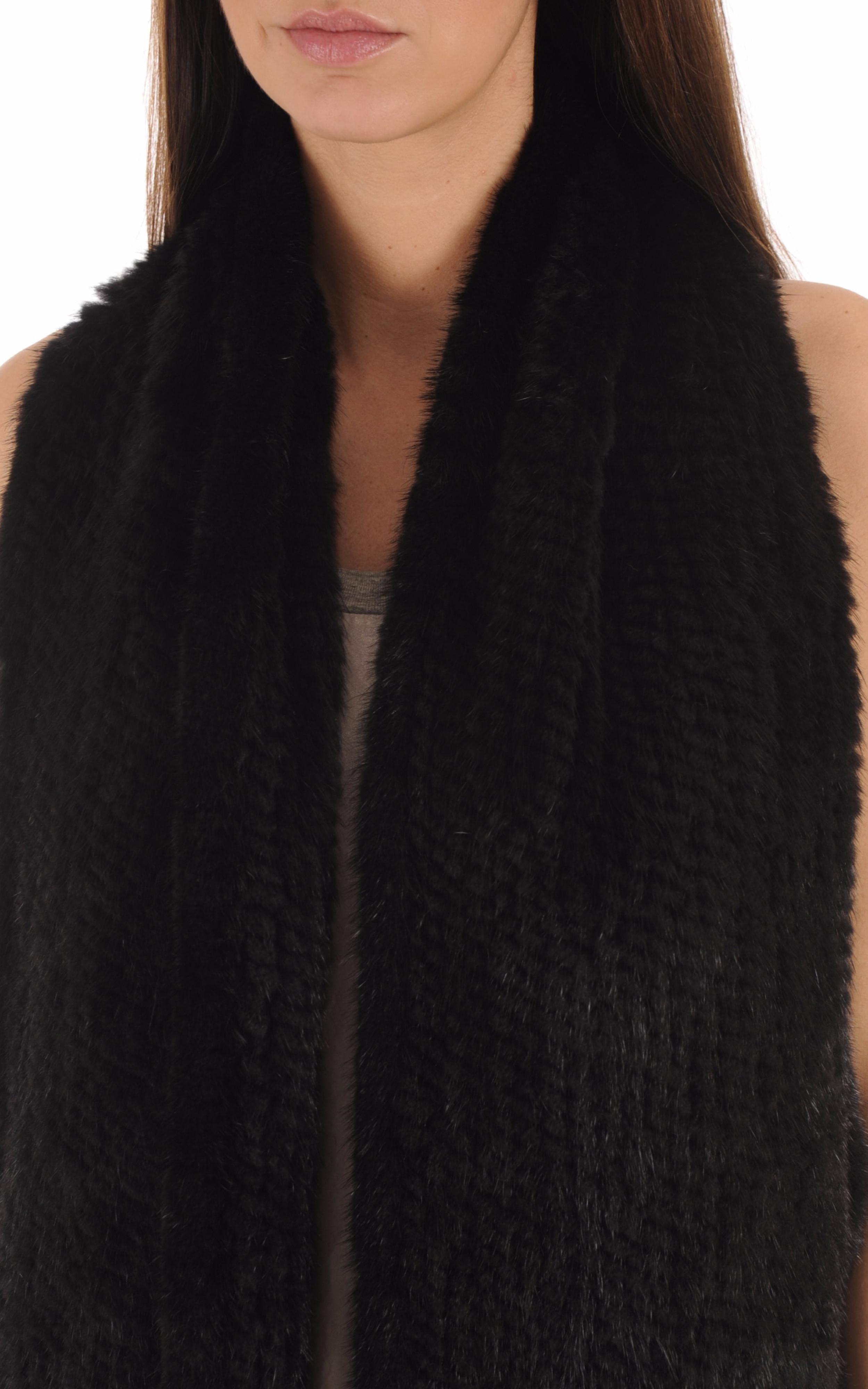 Echarpe Femme Vison Noir Intuition