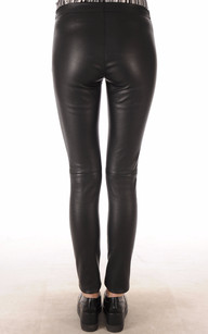Legging Cuir Stretch Noir Oakwood