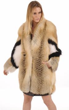 Manteau en Renard Femme1