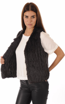 Gilet Lapin Anthracite