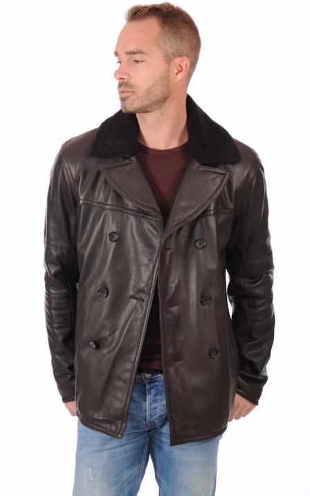 Blouson et veste cuir 3 4 Strellson pour homme   La Canadienne 758b446cea7a