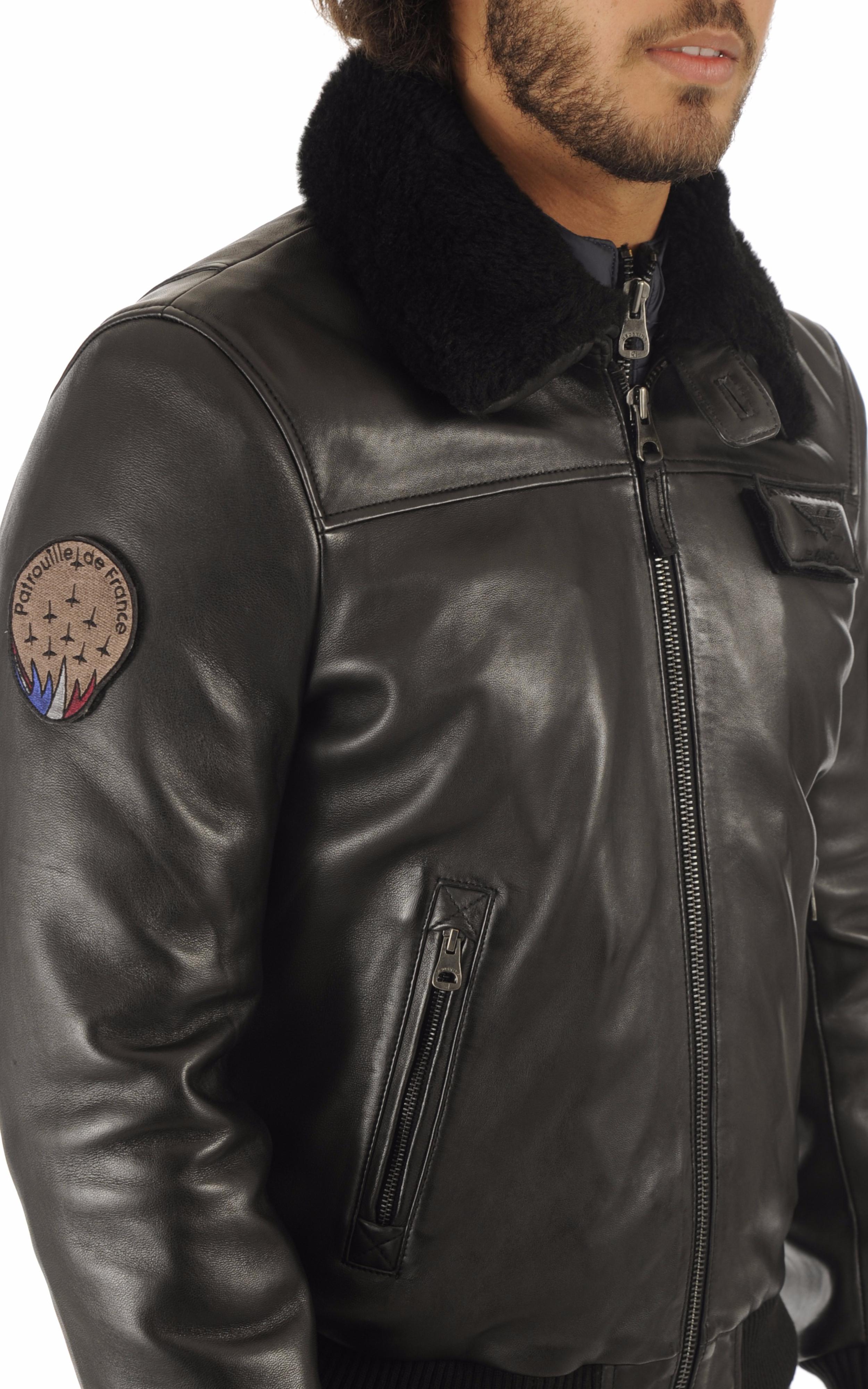 Blouson Aviateur PAF Noir Patrouille de France