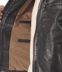 Blouson cuir agneau lavé noir Daytona 73