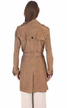 Trench velours sable