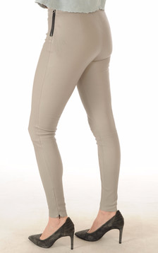 Legging Cuir Stretch Gris Minéral
