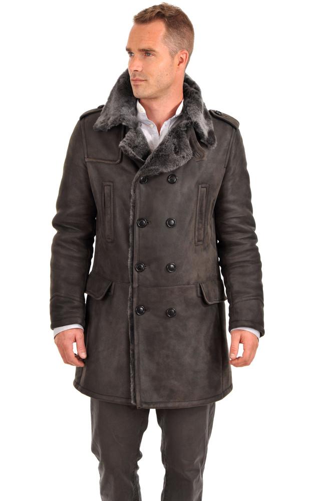 3 4 peau lain e homme artico la canadienne veste 3 4. Black Bedroom Furniture Sets. Home Design Ideas