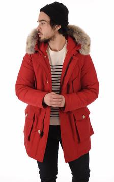 Parka Avec Fourrure Homme Artic Rouge