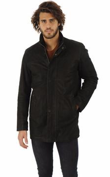 Sur-veste Cuir Vachette Noir
