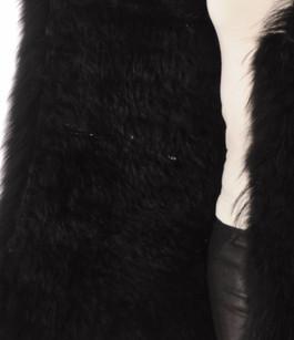 Gilet Fourrure Lapin et Raccoon Noir Oakwood