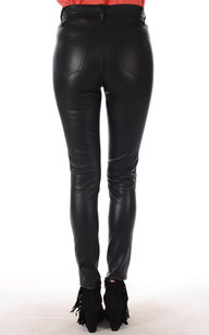 Pantalon Slim Cuir Stretch