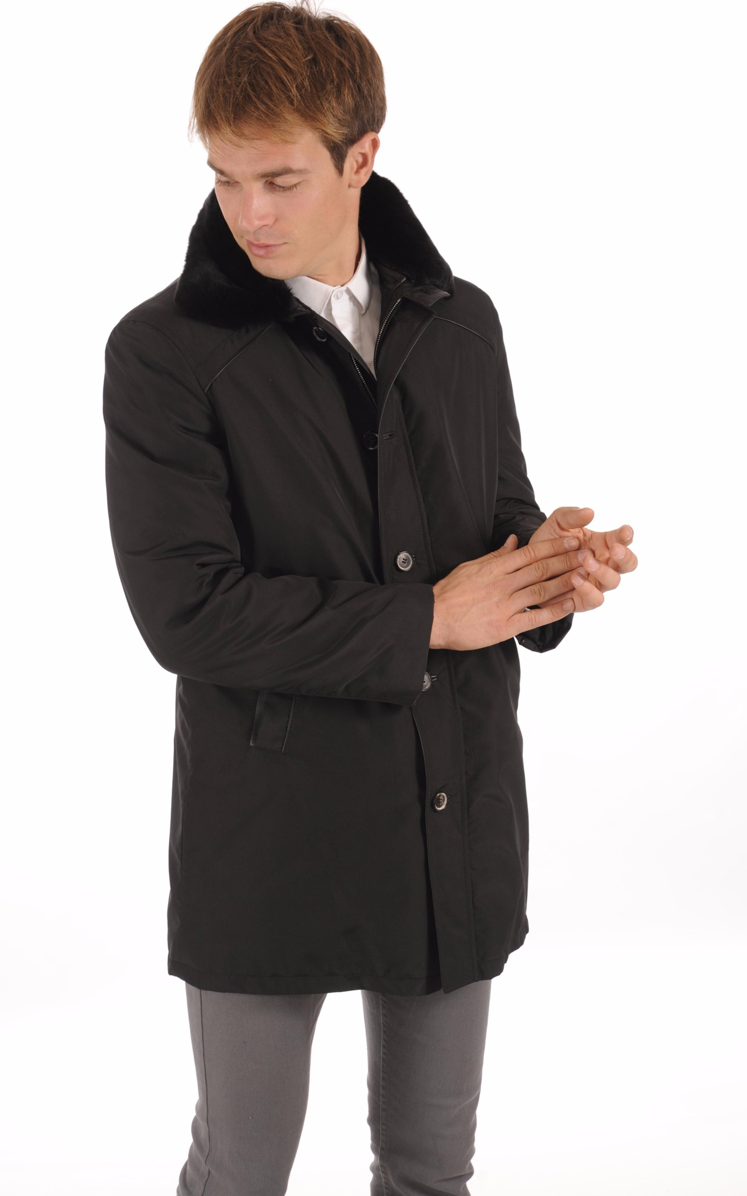 3/4 Textile et Lapin Noir Homme La Canadienne