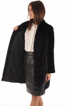Manteau Chic Vison Noir
