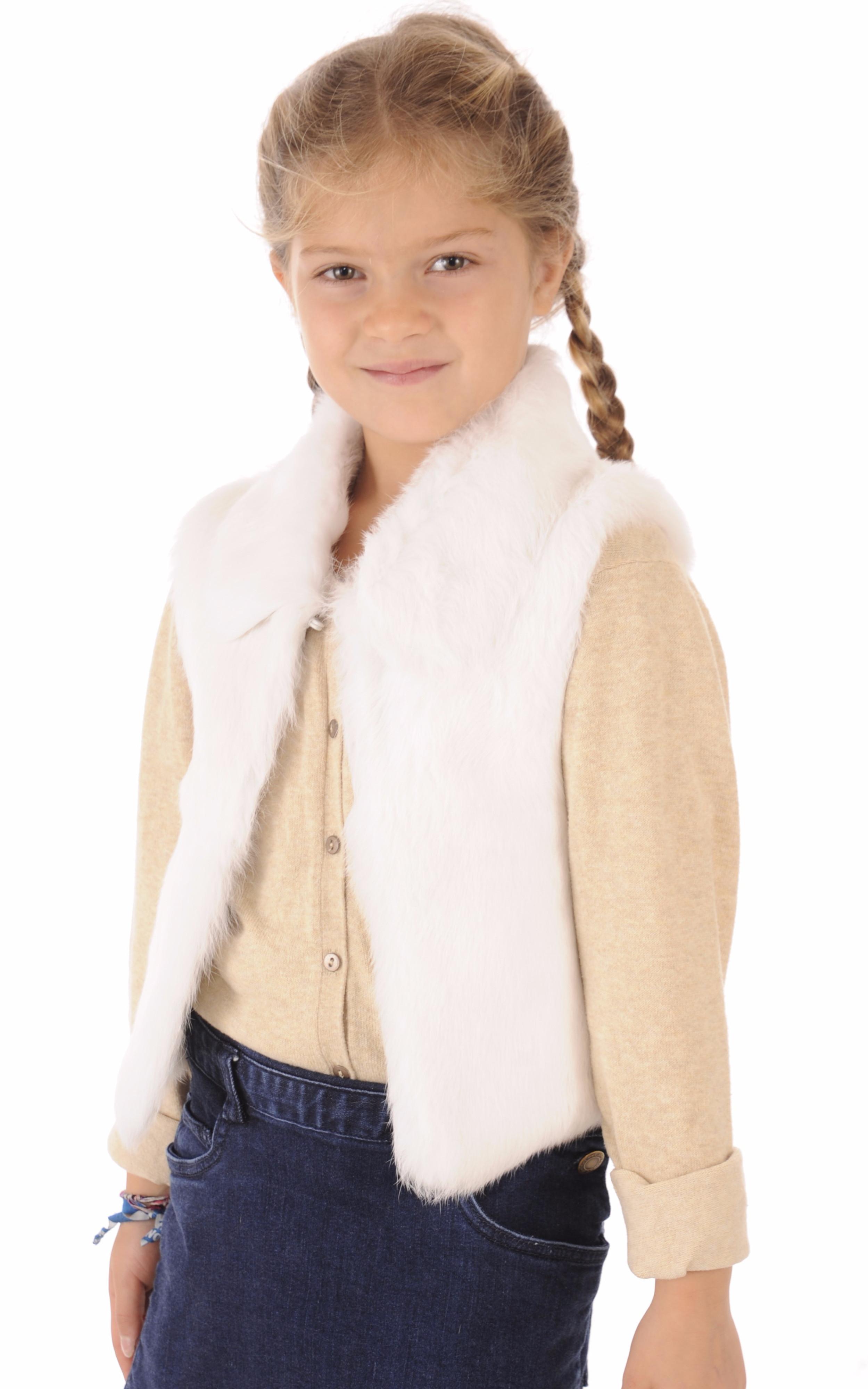 Gilet Enfant Fourrure Lapin Petit Nord